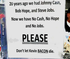 food, bacon, and Johnny Cash image
