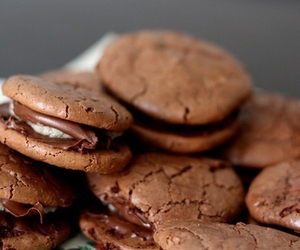 chocolate, creamy, and filled image