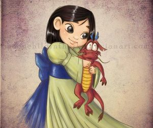 mulan, princesse, and mouchou image