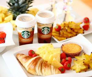 starbucks, breakfast, and food image