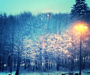 lumiere, neige, and fond d'ecran image