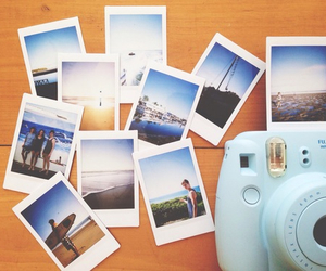 polaroid, camera, and pictures image