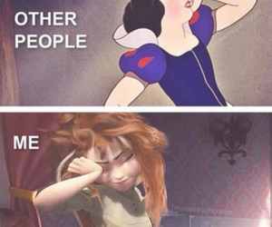 anna, snow white, and frozen image