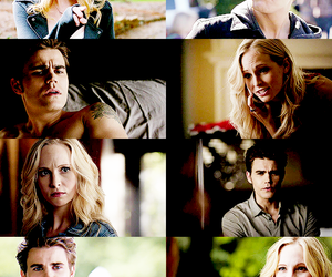 tvd, stefan salvatore, and caroline forbes image
