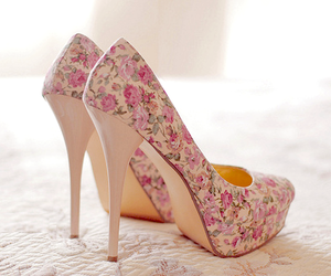beautiful, shoes, and flowers image