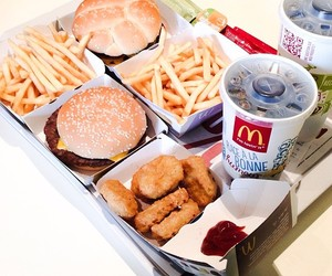 fries, McDonalds, and food image