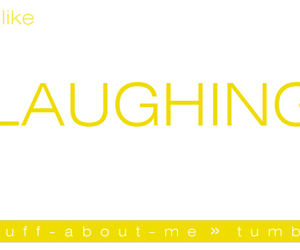 happy, yellow, and laugh image