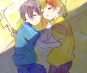 free!, makoharu, and makoto image