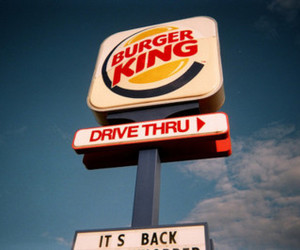 burger king, drive thru, and food image