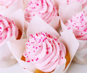 pink, cupcake, and food image