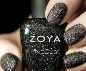 nails, black, and zoya image