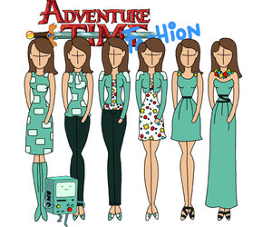 fashion and adventure time image
