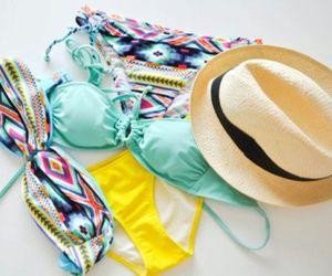 summer, bikini, and hat image