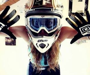 girl and motocross image