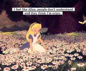 alice, crazy, and wonderland image