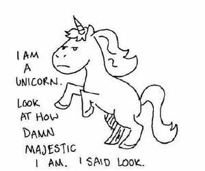 unicorn, majestic, and funny image