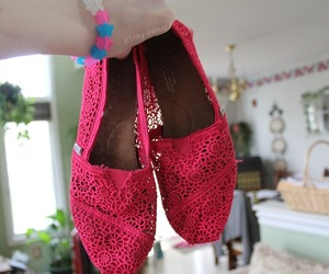 toms, shoes, and pink image