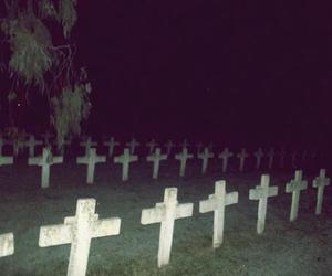 cemetery, cross, and grunge image