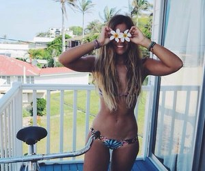 body, flowers, and girl image