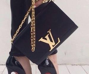 bag, black, and Louis Vuitton image