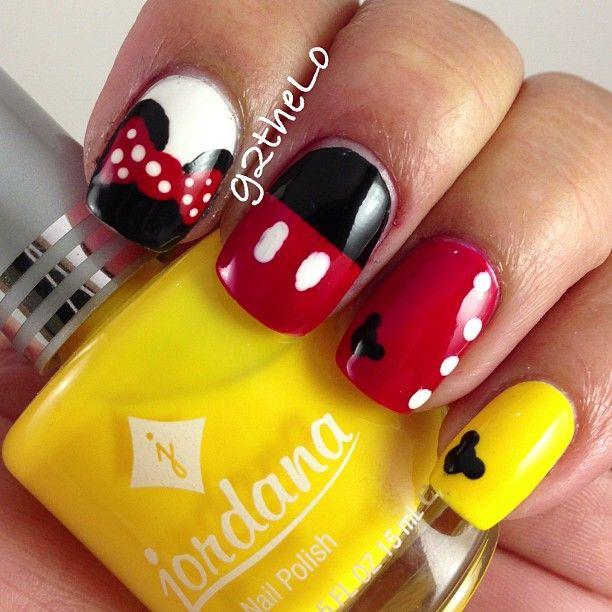 Mickeyminnie Mouse Nails Shared By Marine On We Heart It