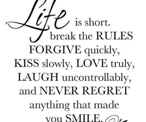 never regret, forgive, and kiss image