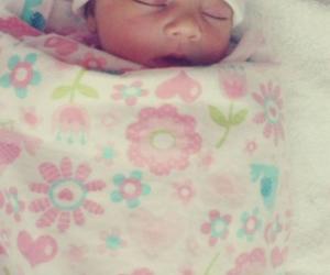 baby, girl, and newborn image