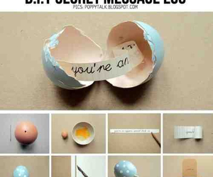 diy, egg, and message image