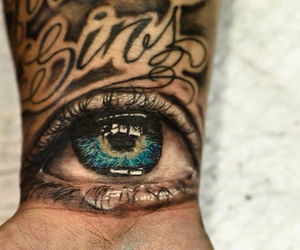 blue eyes, inked, and ink image