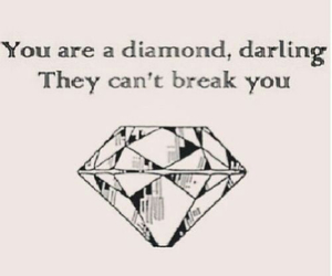 diamond, quote, and darling image