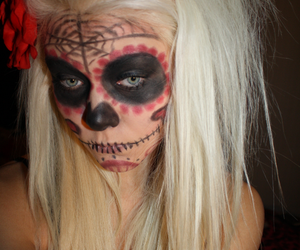 blonde, facepaint, and psychobilly image