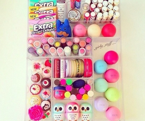 eos, makeup, and girly image