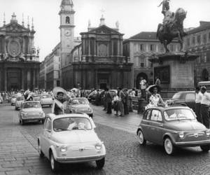 fiat, black and white, and car image