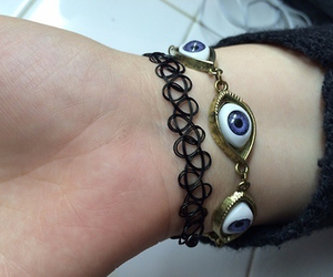 bracelet, grunge, and eye image