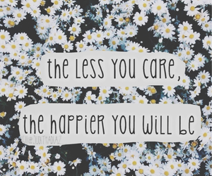 quote, flowers, and care image