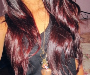hair, red, and ombre image