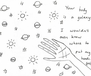 body, drawing, and galaxy image