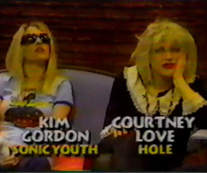 Courtney Love, Kim Gordon, and sonic youth image