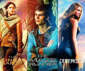 divergent, the hunger games, and the maze runner image