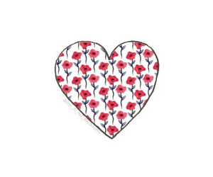 heart, overlay, and flowers image