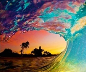 beach, colorful, and love image