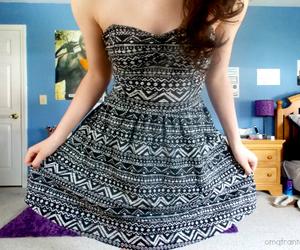 dress, tumblr, and girl image
