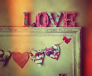 hearts, vintage, and love image