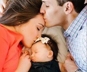 love, couple, and baby image