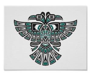 bird, spirit, and tribal image