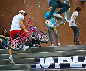 guy, skate, and skateboard image