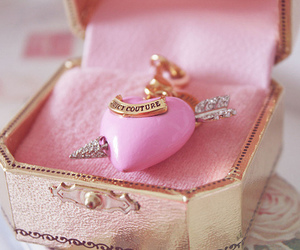 pink, heart, and juicy couture image