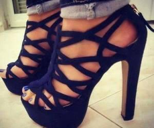 black, shoes, and talon image