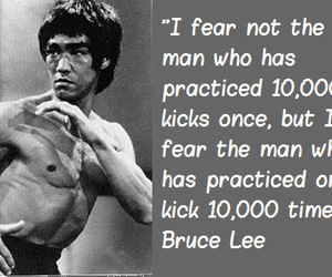 bruce lee, fear, and perseverance image