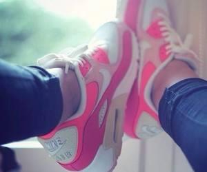 orange, air max, and pink image